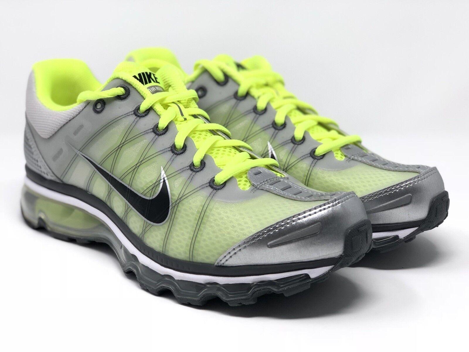 Nike Air Max 2018 Shoes Neutral Grey/Volt Men's New 486978-017 Size 7.5