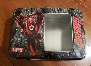 Marvel-Comics-Daredevil-Lunch-Box-Metal-8-034-x-5-034-x-3-034