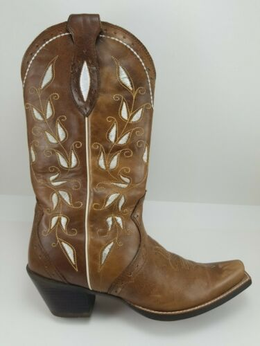 Ariat ATS Sonora 10006310 Brown White Leather West