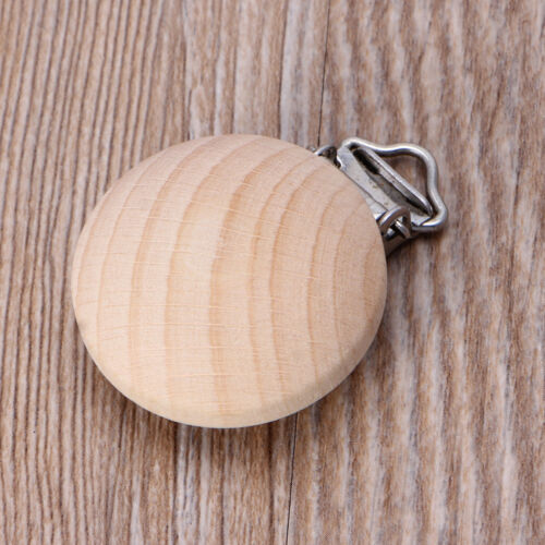 35mm Beech Wood Pacifier Clip Unfinished Nipple Holder DIY Pacifier Clips Chain