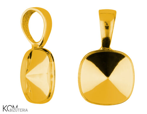 pendant Bail for Swarovski 4470 10 mm w 119 gold-plated silver