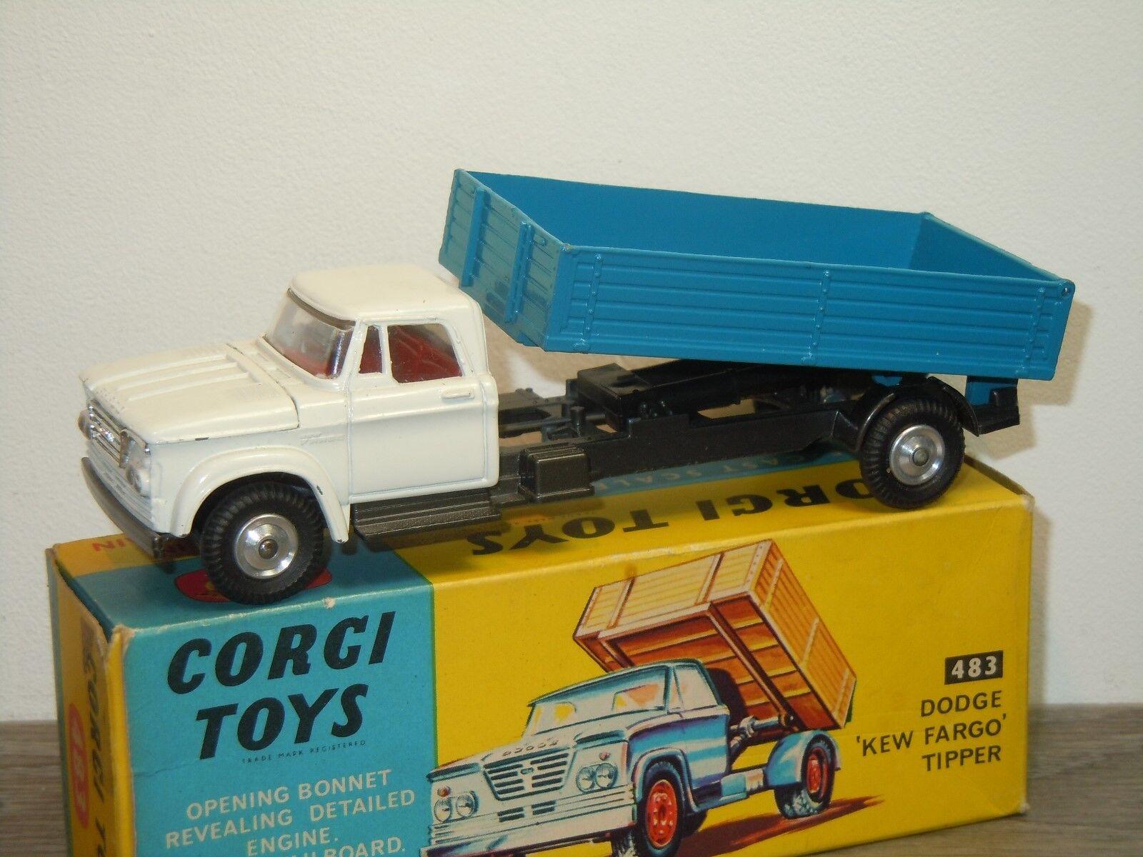 Dodge Kew Fargo Tipper - Corgi Toys 483 England in Box 35477
