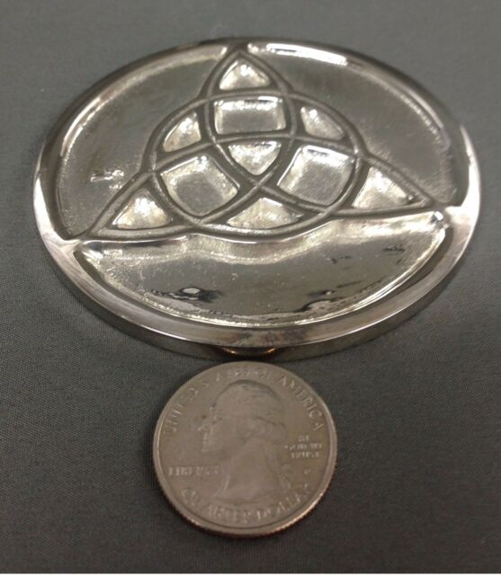 Silver Plated Triquetra Altar Tile Wicca Pagan