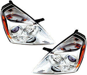 Image Is Loading New Headlights Headlight Embly W Bulb Pair Set