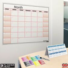 MONTH PLANNER LAMINATED ?Home/Office Wall ?REUSABLE ?Any Month/Year ?+FREE GIFT!