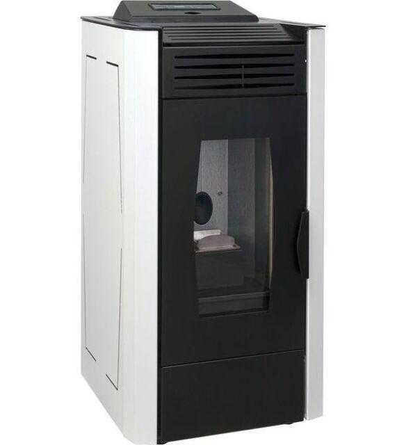 Güde GP 100 B Pelletofen 8,8 kW in bodeaux und weiß erhätlich Kamin Ofen Heizen