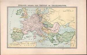 Image Is Loading 1900 Ca ANTIQUE MAP EUROPE UNDER THE EMPIRE