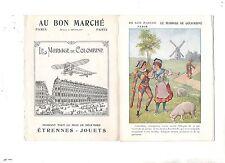 Chromo Au Bon Marché. Livret Le Mariage de Colombine. 6 pages.
