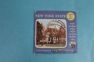 VINTAGE VIEW-MASTER 3D REEL PACKET NEW YORK STATE UNNUMBERED COMPLETE