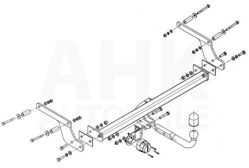 Pour Dacia Duster I 2wd//4x4 attelage rigide es 7p ABE
