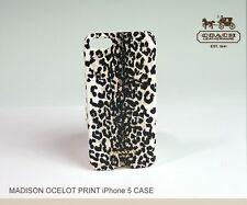 COACH iPhone 5 Case in Ivory Madison Ocelot Leopard Print 66367B