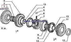 Ingranaggio Boxer Motore Originale 60501269 Retromarcia 145 Alfa 146 33 F0qwd0A
