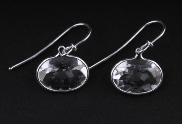 Georg Jensen Sterling Silver Savannah Earrings W Rock Crystal 628a V Torun