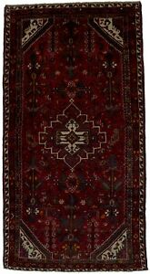 Semi-Antique-Tribal-Hand-Knotted-Hamedan-4-039-7X9-Rug-Oriental-Area-Carpet