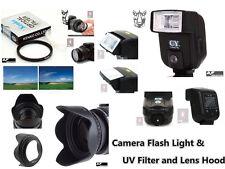 CK14 UV Filter + Lens Hood + Camera Flash for Sony Alpha A300 A330 A380 A390