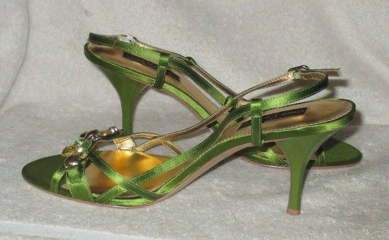 NICE **VINCE Fabric/Leather CAMUTO**  Strappy, Slingback, Fabric/Leather **VINCE 3.5