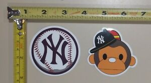 2X-NEW-Lot-of-2-New-York-Yankees-MLB-Vinyl-Decal-Sticker-Major-League-Baseball