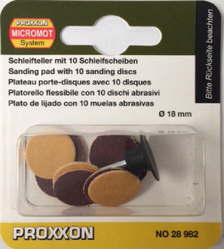 Proxxon 10 x sanding discs with arbor 28982 202358 arbour Direct from RDGTools