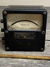 Antique Weston Electrical Instrument No 433 Zero Correction Ac Volts