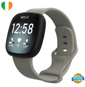 Strap-For-Fitbit-Versa-3-Sense-Replacement-Watch-Band-Silicone-SMALL-LARGE-Grey
