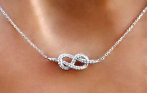 Infinity-Love-Knot-Diamond-Necklace-in-Sterling-Silver-with-Link-Chain-18-034-inch