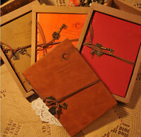 Retro Journal Vintage Blank Diary Leather String Key Sketchbook Classic Notebook