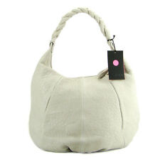 IO Pelle Italian Made Natural Off-white Lether Designer Handbag Hobo with Pouch