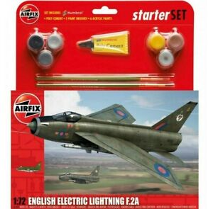 AIRFIX-1-72-English-Electric-Lightning-F-2A-modele-d-039-avion-Starter-Set-A55305