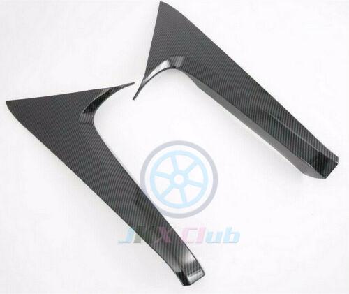 Carbon Fiber Spoiler Rear Window Triangle Cover Trim For Toyota RAV4 2019 2020