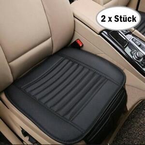 2-x-Universal-Vorne-Auto-Sitzkissen-Sitzauflage-Sitzbezuege-Sitzmatte-PU-Leder