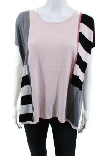 Weekend Max Mara Womens Abstract Boat Neck Blouse