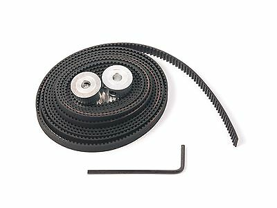 2 GT2 Timing Pulleys 20 and 2m of GT2 Timing belt 3D Printing REPRAP