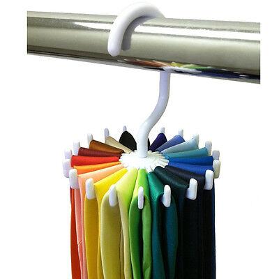 New Rotating Adjustable 20 Neck Ties Rack Organizer Belt Tie Rack Hanger Holder