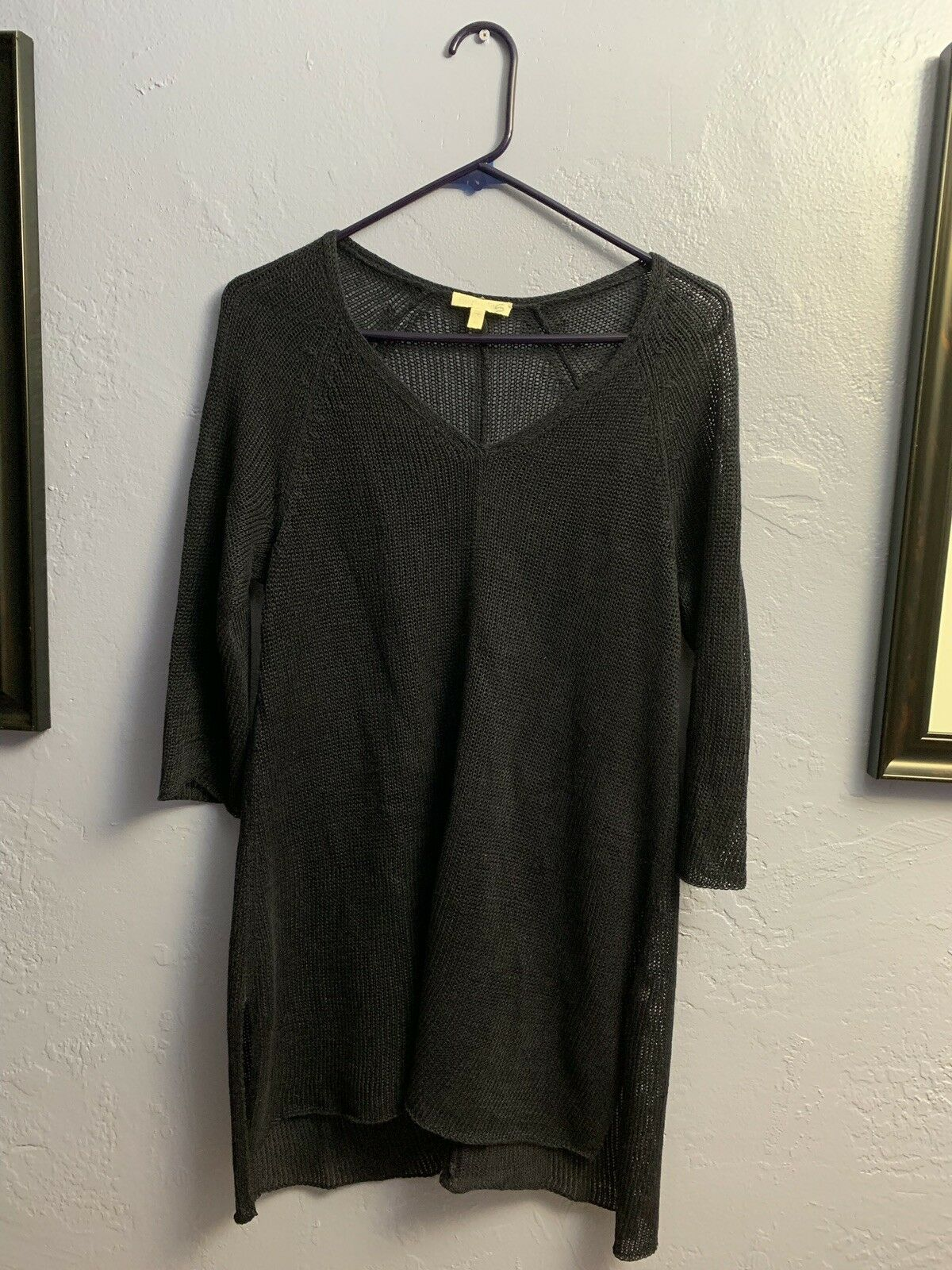 Eileen Fisher Sweater Linen Tunic Cover Up Top Größe XS