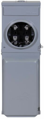 Power Box Surface Mount 100 Amp Ringless Metered Temporary with GFCI Top Feed