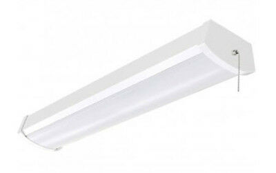 LED Ceiling Wrap Light Fixture 4 Foot - 40 Watt With Pull ...