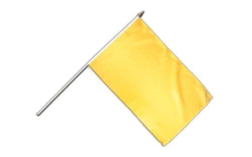 Einfarbig Gelb Stockflagge Flaggen Fahnen Stockfahne 30x45cm