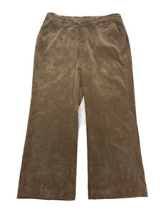 Coldwater-Creek-Women-039-s-Size-16P-16-PETITE-Brown-Bootcut-Corduroy-Pants