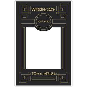 Great Gatsby Wedding Selfie Frame Photo Booth Prop Poster Ebay