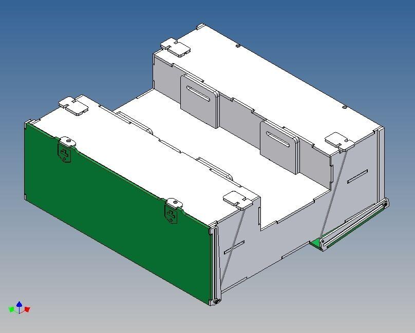Pkb190-palettenkombistaubox para Tamiya tráiler - 190 l x 65 h x 180 B