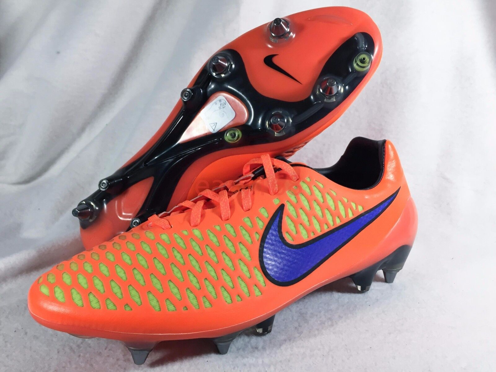New Nike Masista Opus SG Pro Sz 11.5 Mens ITALY 45.5 Metal Cleats Soccer Orange
