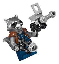 LEGO Marvel Super Heroes ROCKET RACCOON MINIFIGURE AUTHENTIC NEW w/ Guns 76079