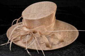 1896442f7a73a Image is loading Big-Brim-Almond-Wedding-Mother-Of-The-Bride-