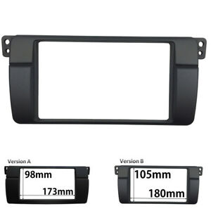 2-Din-Radio-Fascia-for-BMW-3-Series-E46-1998-2005-Stereo-Panel-Dash-Trim-Kit