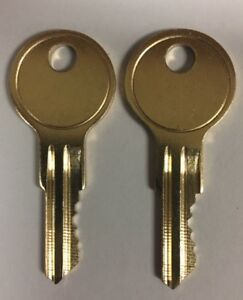 225E 2 NEW KEY FOR HON FILE CABINET CUT TO YOUR CODE KEY BY A LOCKSMITH 101E