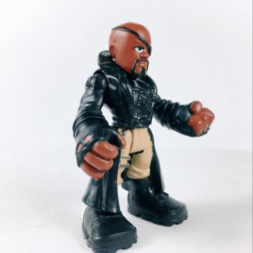 "Nick Fury Playskool Heroes Marvel Super Hero Adventures 2.5/"" figure Hasbro Toy"