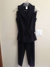 City Triangles Black Sleeveless Shirt and Pants Size 5