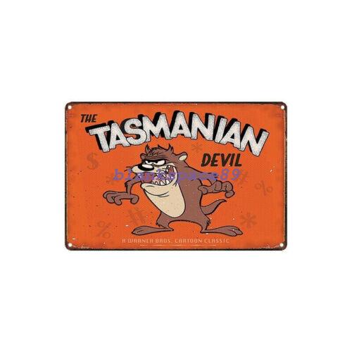 Metal Tin Sign the tasmanian devil  Decor Bar Pub Home Vintage Retro
