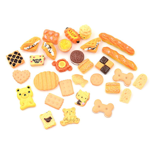 30Pcs 1:12 Dollhouse Miniature Food Home Craft Ornament Doll Dessert Kids Toy Kq