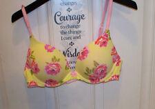 36B Victoria's Secret Yellow Push-Up Padded Front Close Underwire Bra